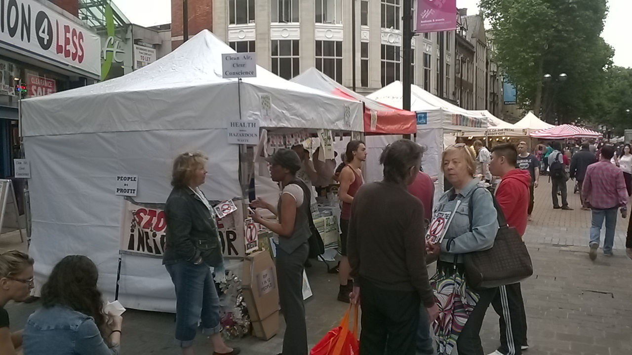 Stall at Croydon Green Fair, June 2014