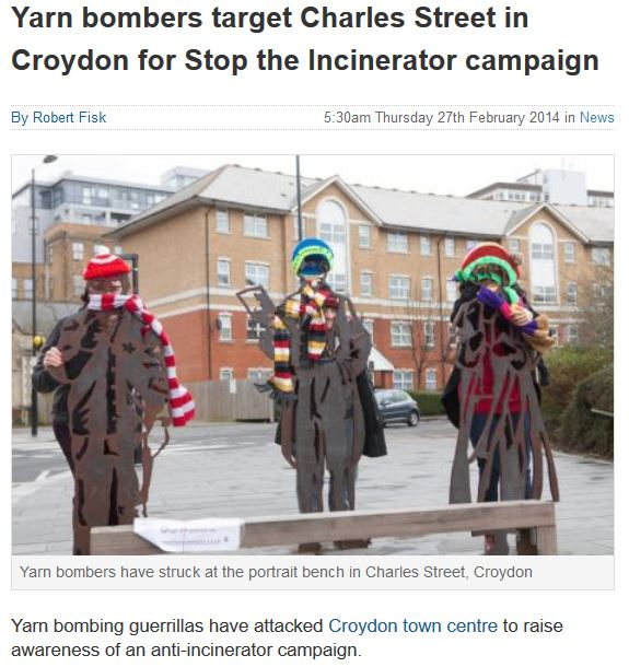 yarn bombers - news 27 th feb
