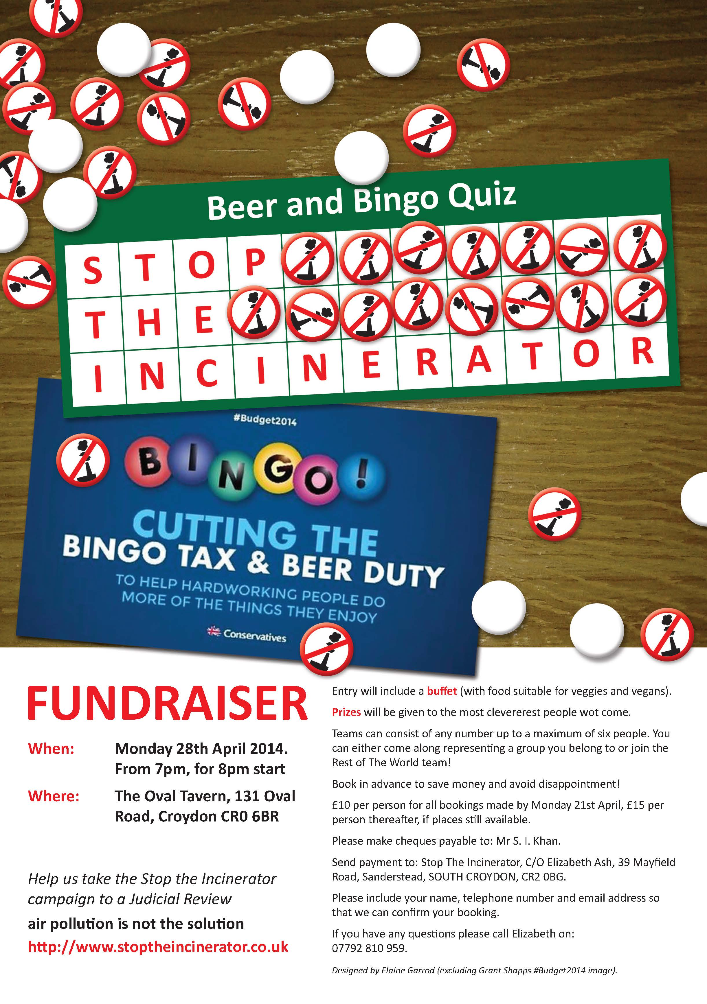 Beer & Bingo quiz night flyer_Front