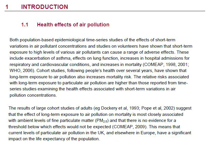 term paper about air pollution