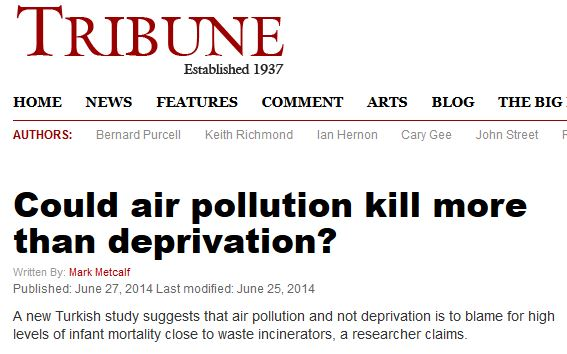air pollution kills more than deprivation