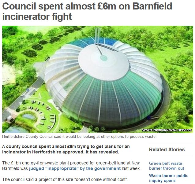 BBC barnfield incinerator 21st july 2014