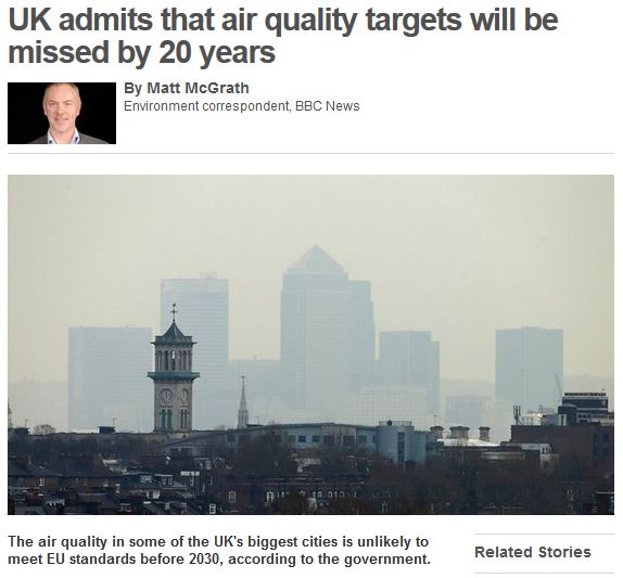 bbc news air quality targets missed 10th july 2014