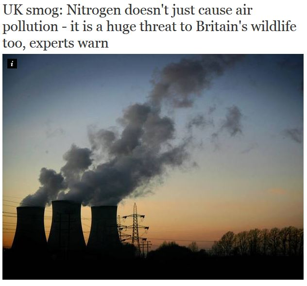 uk smog treat to wildlife independent april 2014