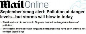 daily mail pollution high 19th sept 2014