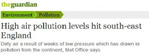 guardian high pollution 18th sept 2014