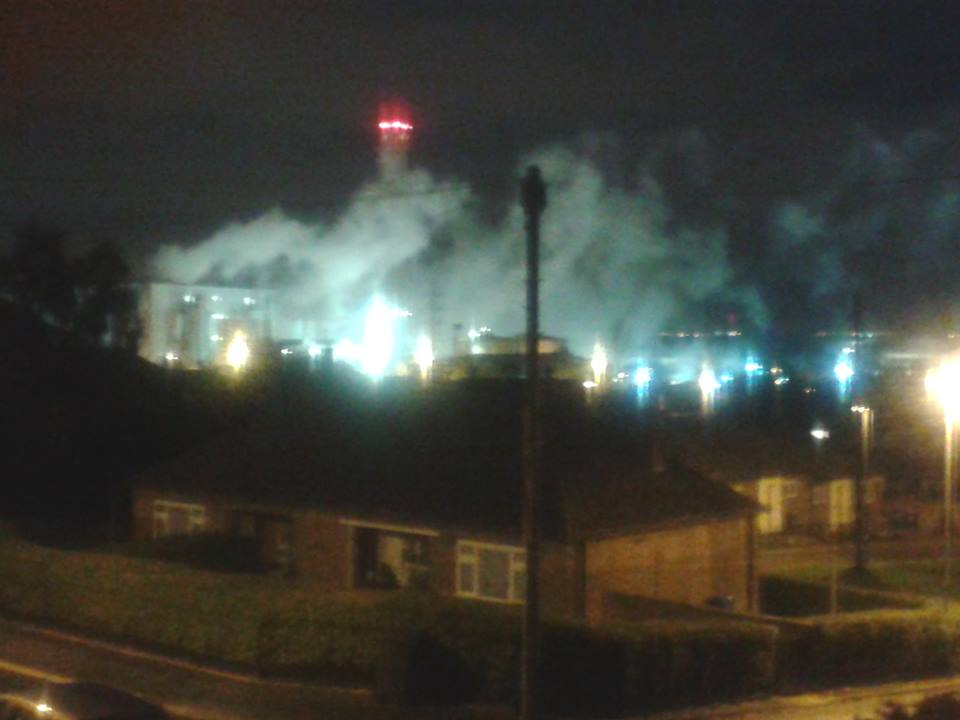 incinerator night time 7th nov 14 2